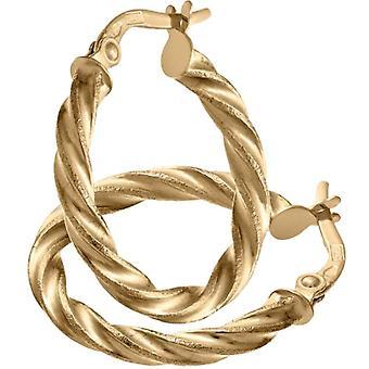 Citerna Women's Hoop Earrings in Yellow Gold 9K