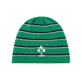 Canterbury Irlanda IRFU Acrylic Fleece Lined Rugby Beanie Hat Green