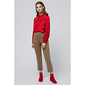 Louche Tatiana Twist Neck Blouse Red