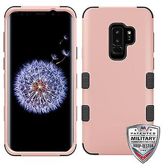 MYBAT Rose Gold/Black TUFF Hybrid Phone Protector Cover for Galaxy S9 Plus