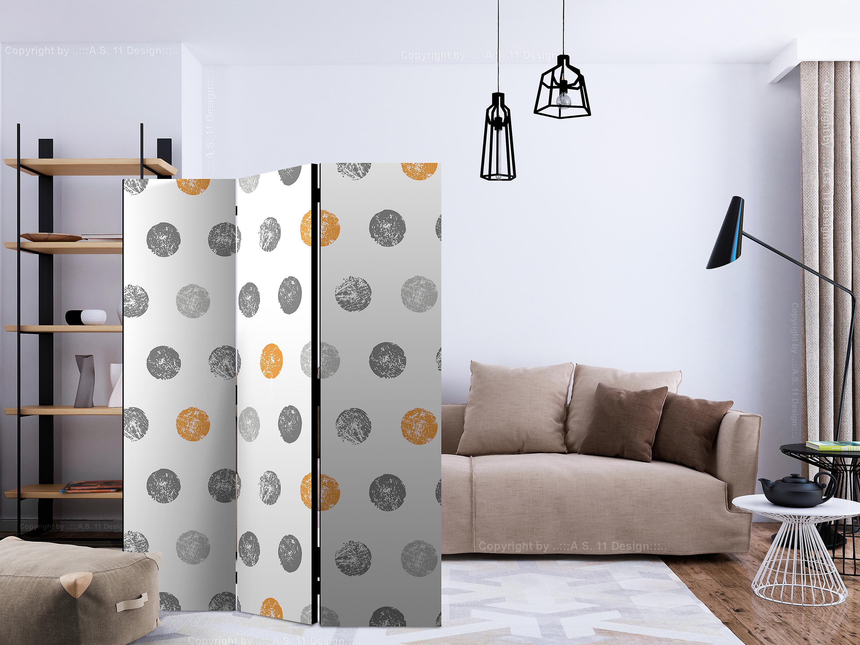 Paravent 3 volets - Round Stamps [Room Dividers]