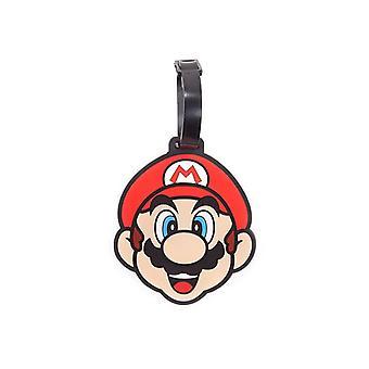 Nintendo Super Mario Bros. Mario twarz gumy bagaż Tag podróży Multi kolor