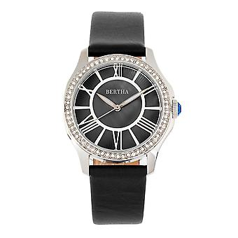Bertha Donna Mother-Of-Pearl Leather-Band Watch - Noir