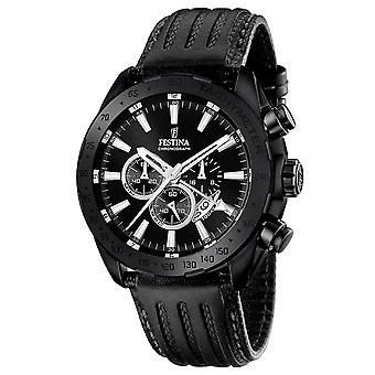 Festina F16901-1 Uomini's Orologio da polso Prestige Black Dial Wrist