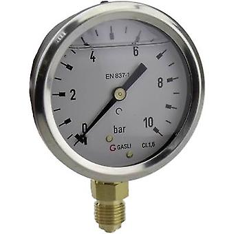 ICH manometer 63R10. MGE-connector (manometer): onder 0 tot 10 bar externe schroefdraad 1/4 1 PC (s)