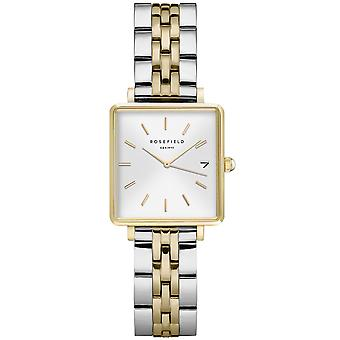 Rosefield the mini boxy Watch for Women Analog Quartz with Stainless Steel Bracelet QMWSSG-Q023