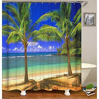 Palm Trees Duet Shower Curtain