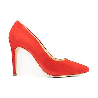 Paul Green 3591-02 Red Suede Leather Womens Slip On Stiletto Heel Court Shoes
