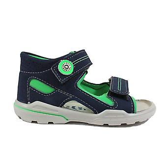 Ricosta Manti 3221500-555 Marine/groene jongens gesloten rug sandalen