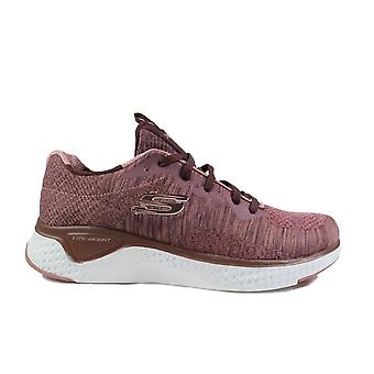 Skechers Solar Fuse - Brisk Escape 13328 Mauve Purple Fabric Womens Lace Up Trainers