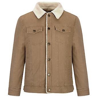 Allthemen Men's Lapel Thick Warm Cotton Padded Jacket