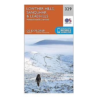 New Ordnance Survey Explorer 329 Lowther Hills  Sanquhar & Leadhills Map Orange