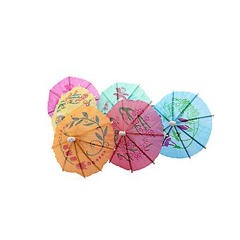 50PC Colourful Paper Cocktail Beach Party Drink Umbrellas - By TRIXES