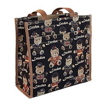 London Bär wiederverwendbare Einkaufstasche per Signare Tapisserie/Shop-lnbe