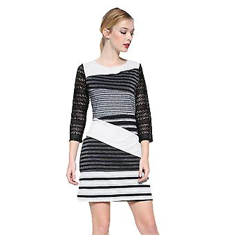 Desigual Women's Striped Lace Sleeve Irlanda Dress