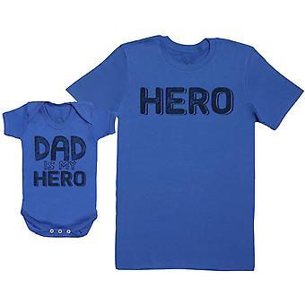MY Dad Is My Hero - Baby Gift Set met Baby Bodysuit & Father's T-Shirt