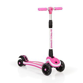 Moni børne scooter plads, højde justerbar, 3 PU hjul, foldbar, LED belysning