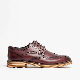 Roamers Josiah Couro Brogue Oxford Sapatos Oxblood