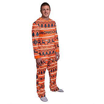 NFL Winter XMAS Pajama Pajama - Denver Broncos