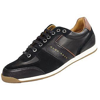 Hugo Boss Footwear Maze_lowp Suede/leather Black Trainer