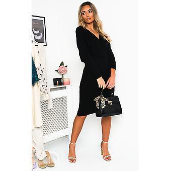 IKRUSH Womens Serina Knitted Maxi Jumper Dress