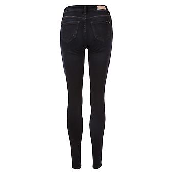 Womens Only Lisa Life Skinny Jeans In Dark Blue Denim