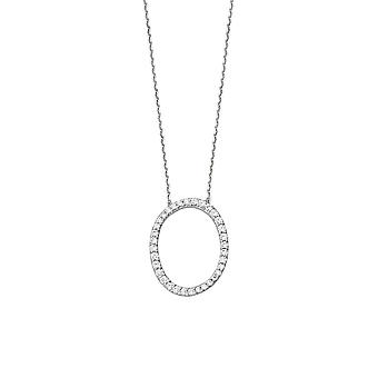 925 Sterling Silver Cubic Zirconia Initial O Adjustable 16 18 Inch Necklace 18 Inch Jewelry Gifts for Women