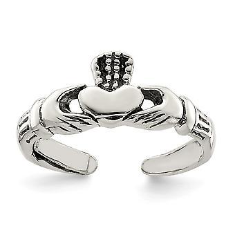 925 Sterling Silver irländska Claddagh Celtic Trinity Knut Toe Ring Smycken Gåvor för kvinnor