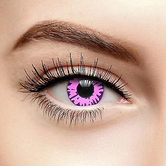 Rosa fortryllet farget kontaktlinser (90 dag)