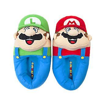 Super Mario Bros Mario And Luigi 3D Kid's Slip-on House Slippers