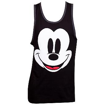 Top tanque preto sem mangas do Mickey Mouse