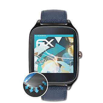 atFoliX 3x Protective Film compatible with Asus ZenWatch 2 41 mm Screen Protector clear&flexible