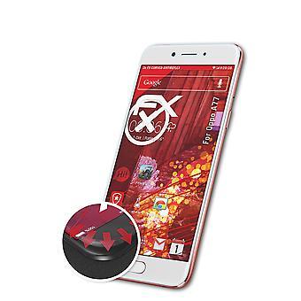 atFoliX 3x Schutzfolie kompatibel mit Oppo A77 Folie klar&flexibel