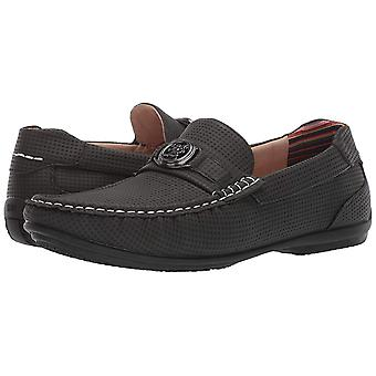 Stacy Adams Mens CYD Leather Closed Toe Slip On Shoes, Charcoal, Size 7.5