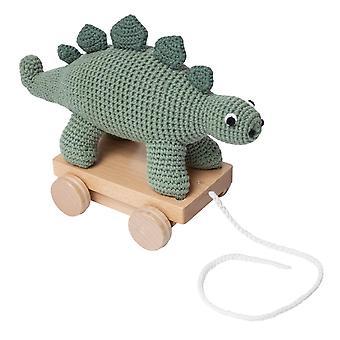 Sebra - pull-along toy - crochet - dino