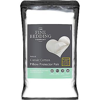 The Fine Bedding Company Zipped Pillow Protector Soft Cotton Set de 2