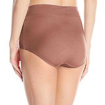 Warner's Women's No Pinching No Problems Modern Brief Panty, Mocha, 9