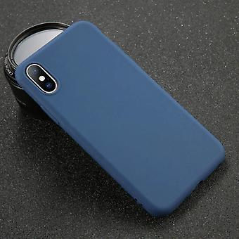 USLION iPhone 8 Plus Ultra Slim Siliconen Case TPU Case Cover Navy