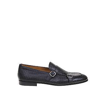 Doucal's Du2363capruf073nn00 Men's Black Leather Monk Strap Shoes