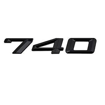 Gloss Black BMW 740 Car Model Rear Boot Number Letter Sticker Decal Badge Emblem For 7 Series E38 E65 E66E67 E68 F01 F02 F03 F04 G11 G12