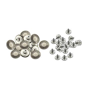 17mm Jeans Buttons with Pins