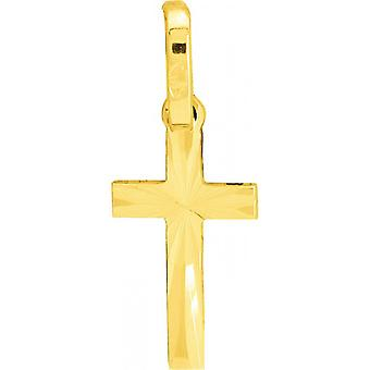 Gold 375/1000 gelb Kreuz Anhänger (9K)