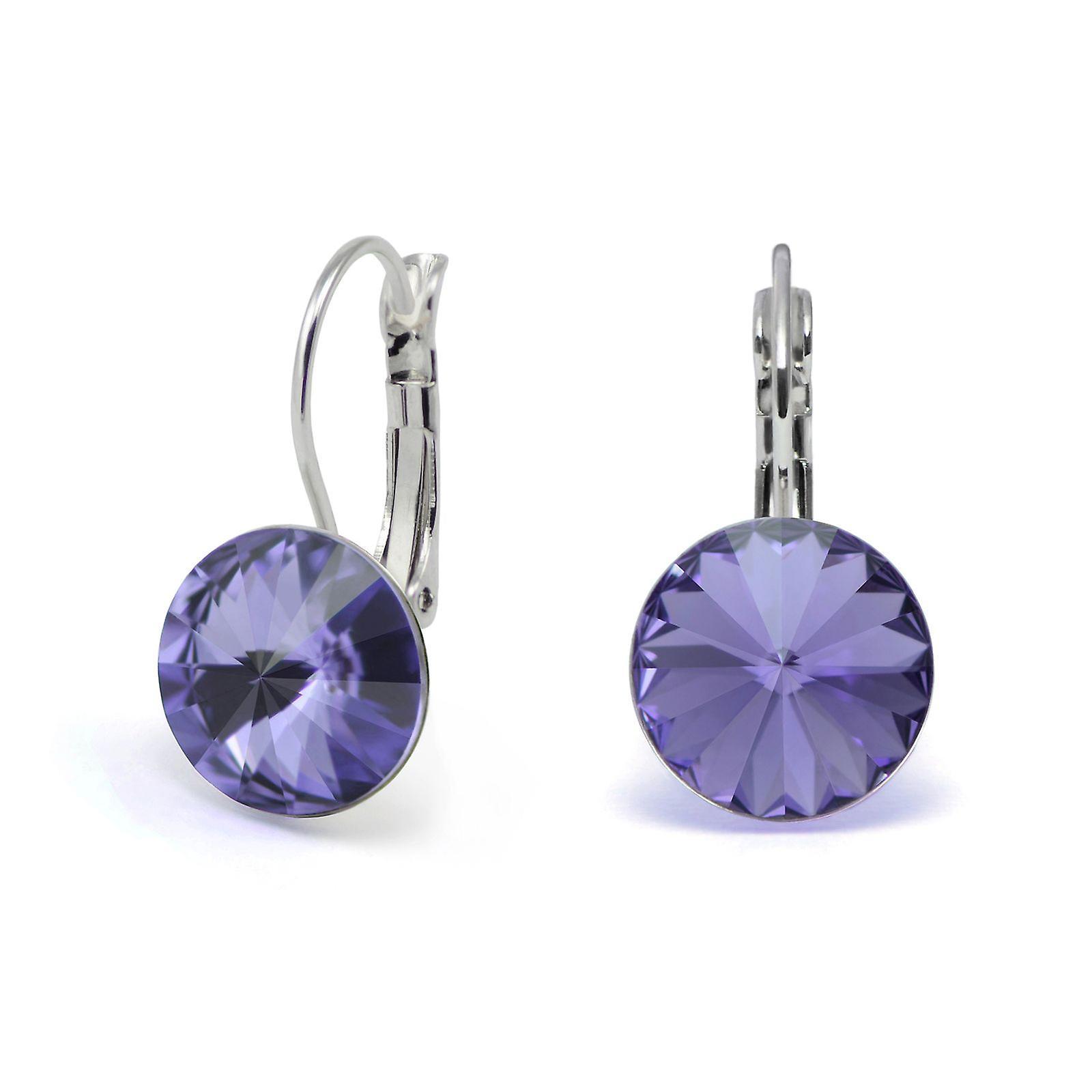 Crystal earrings Tanzanite EMB 1.11