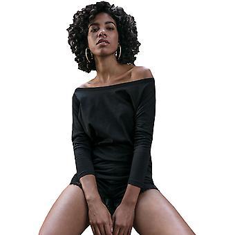 Cotton Addict Womens Batwing Drop Shoulder Long Sleeve Top