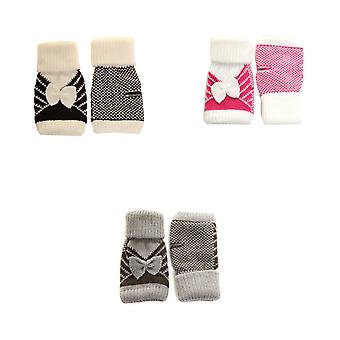 Ladies/Womens Fingerless Winter Gloves With Bow