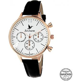 Bekijk so charm horloges MF371-NOIR - Dameshorloge