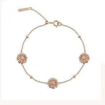 Olivia Burton Watches Obj16dab07 Daisy And Ball Chain Bracelet Rose Gold