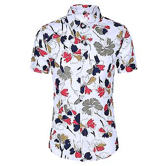 Allthemen Men's Floral Printed T-shirts Hawaiian Summer Beach Tops