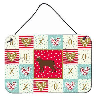Carolines Treasures CK5720DS812 Suphalak Cat Love Vägg eller dörr hängande utskrifter