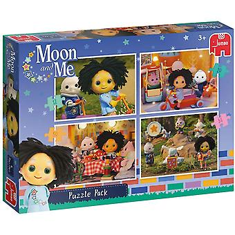 Jumbo Moon and Me - 4 in 1 Puzzle Pack